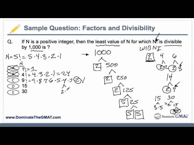 GMAT Math: Factors, Factorials, and Divisibility