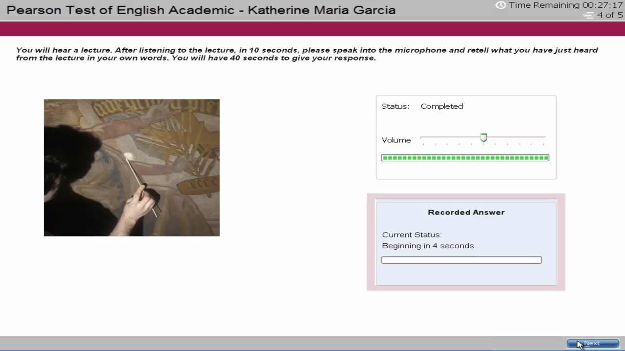PTE Academic English Test Tutorial - Speaking