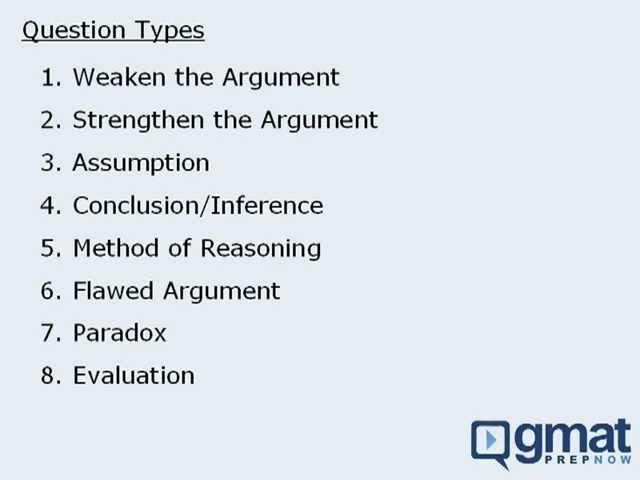 GMAT Reasoning - Critical Reasoning - General Strategy