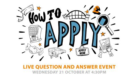 Ask Northumbria - How to Apply Live Online Q&A Event