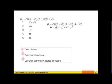 GMAT math tip : How to Conquer Hard Math