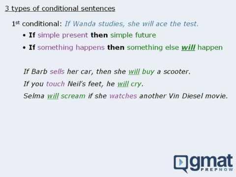 GMAT Verbal: Sentence Correction - Conditional Sentences on the GMAT