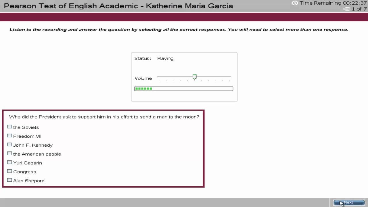 PTE Academic English Test Tutorial - Listening