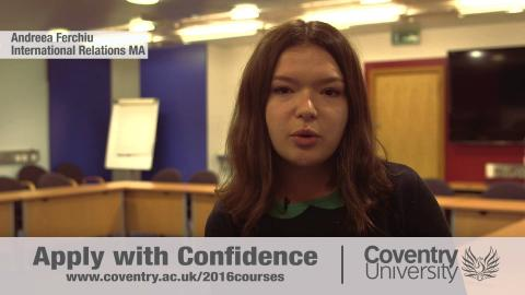 Global Opportunities - Postgraduate study at Coventry University